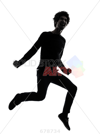 340x455 Stock Photo Of One African Handsome Young Man Jumping Screaming