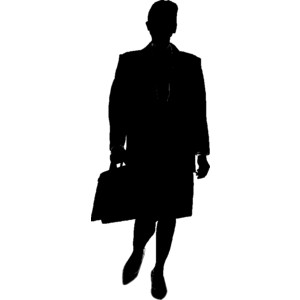 300x300 Man Yelling Silhouette Clipart