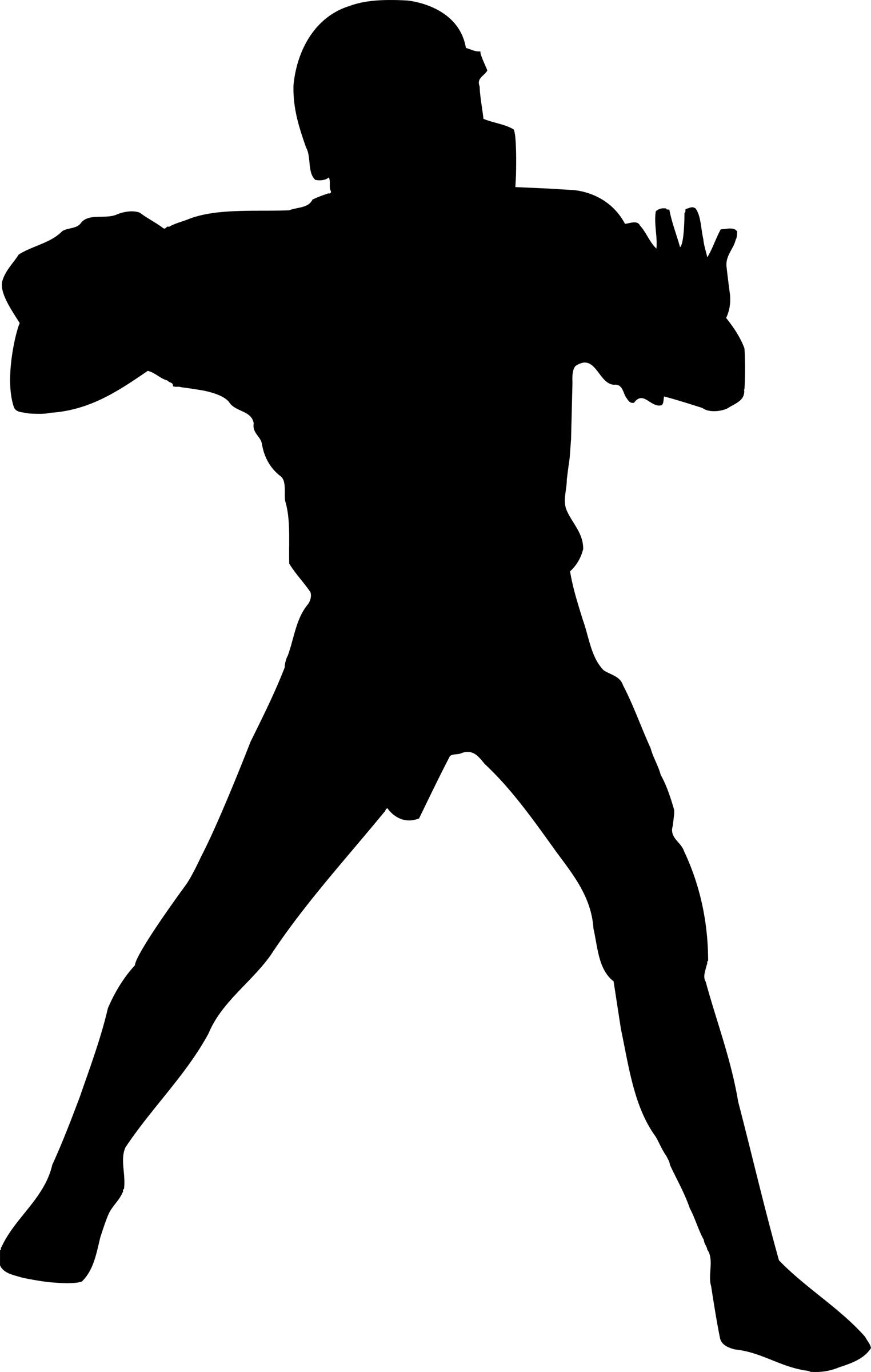 1524x2400 Football Quarterback Silhouette Clipart