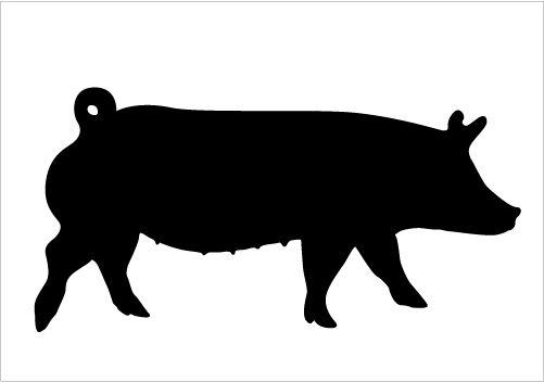 501x352 Show Hog Silhouette Clipart