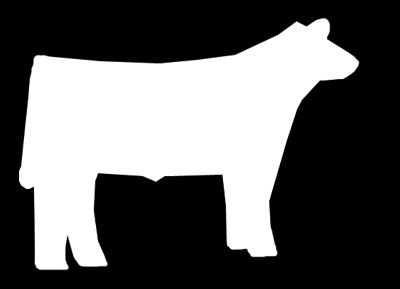 Show Cow Silhouette