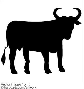 335x355 Download Bull Silhouette