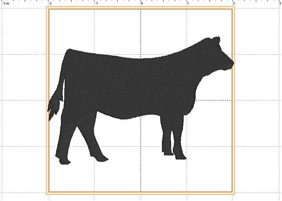 570x407 Show Heifer Machine Embroidery Design Livestock Design 4h