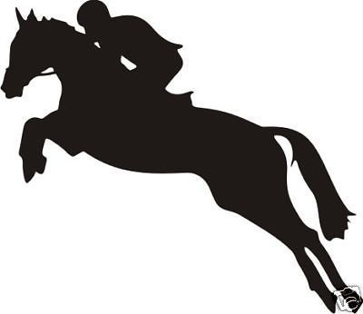 400x346 Large Show Jumping Decal For Car Ute 4wd Horse Float Ebay