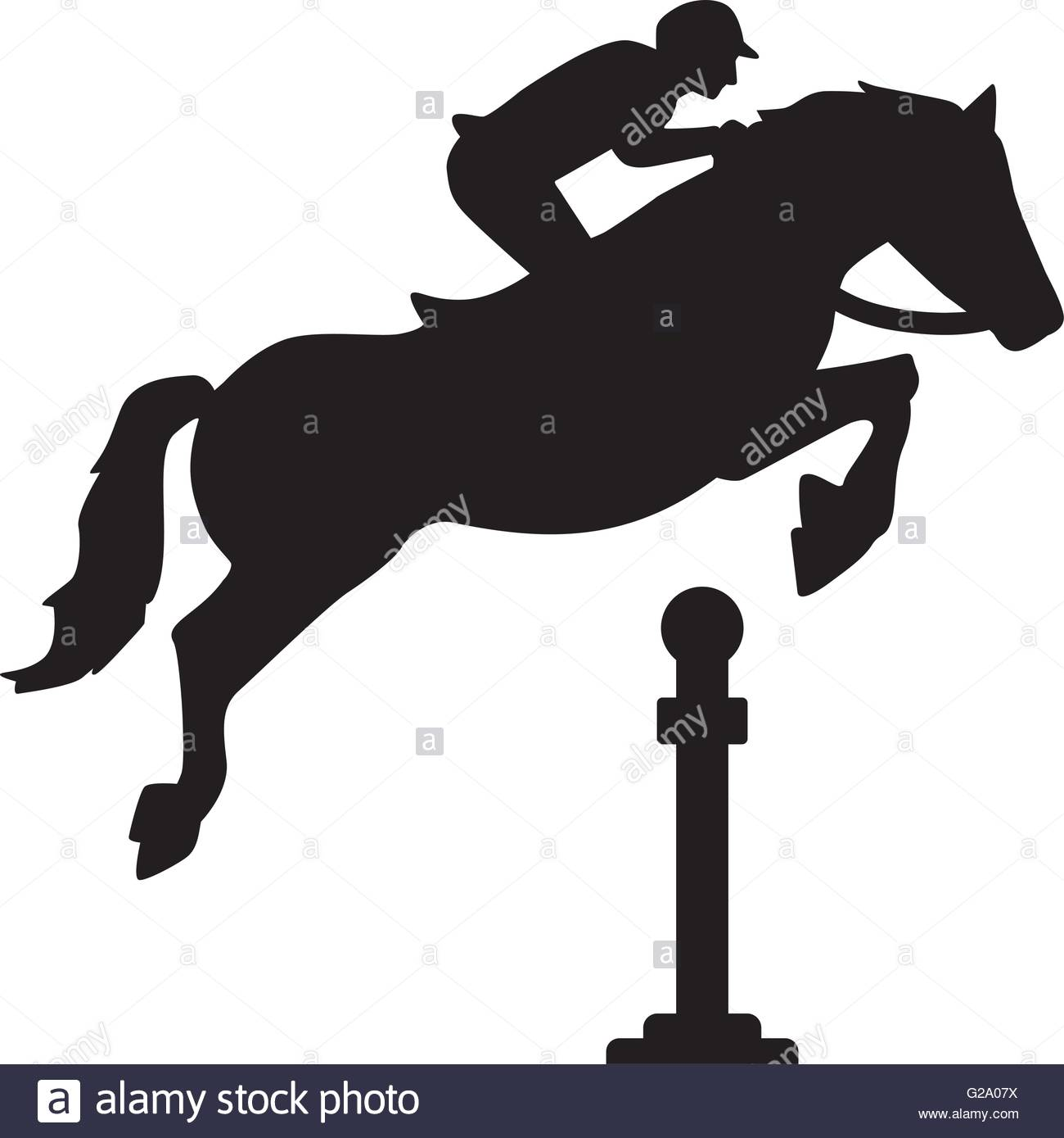 1300x1389 Show Jumping Horse Stock Vector Images