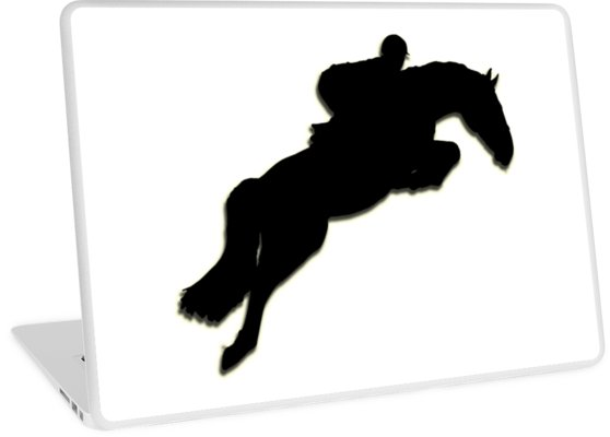 558x400 Show Jumper Silhouette Laptop Skins By Sasse Redbubble