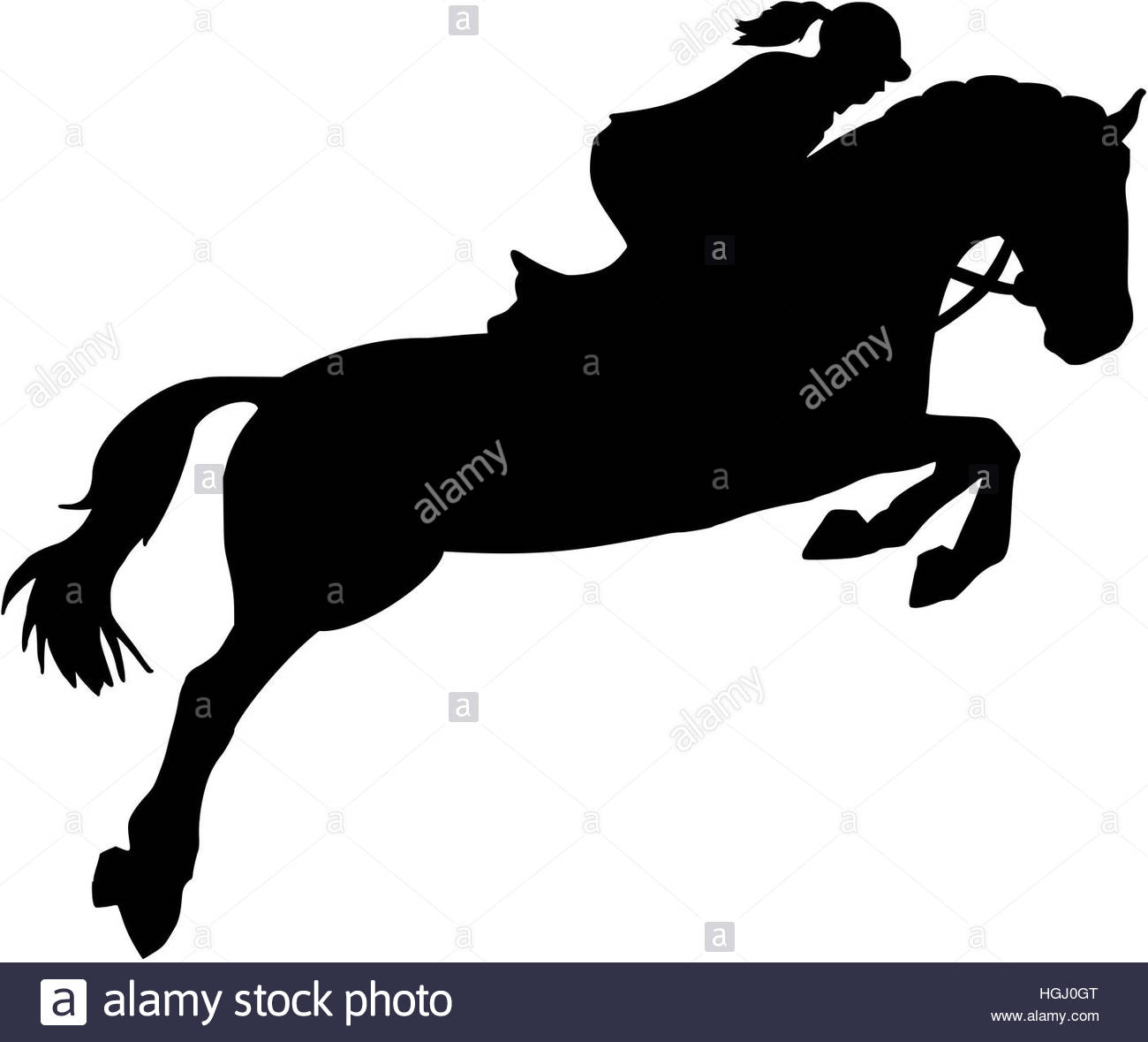 1300x1179 Show Jumping Silhouette With Woman Stock Photo 130702680