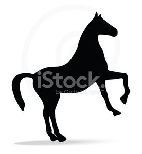 276x300 Silhouette In Show Horse Pose Stock Vectors
