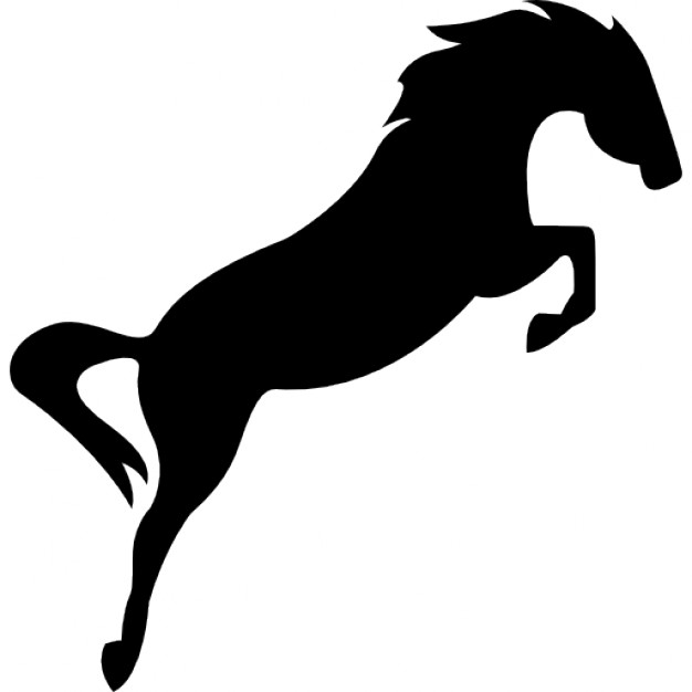 626x626 Horse Black Silhouette In Elegant Jump Icons Free Download