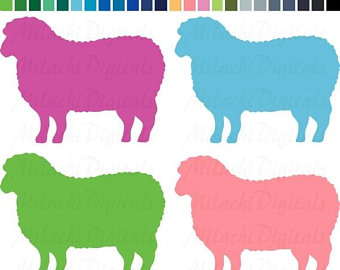 340x270 Sheep Silhouette Etsy