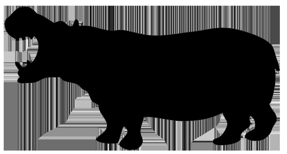1004x538 Silhouette Of Hippo Silhouettes, Stencils Amp Scherenschnitte