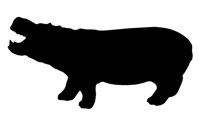 769x480 Hippopotamus Silhouette 3 Decal Sticker