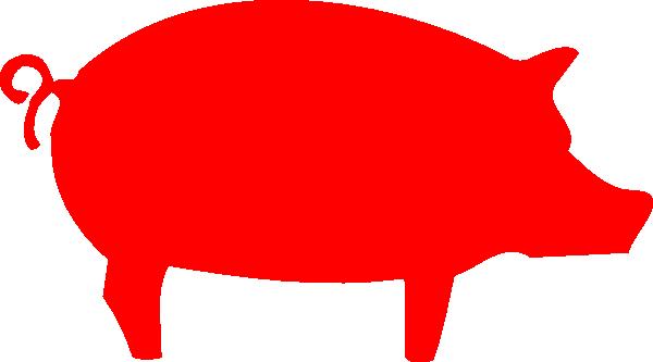 600x333 Pig Outline Clip Art