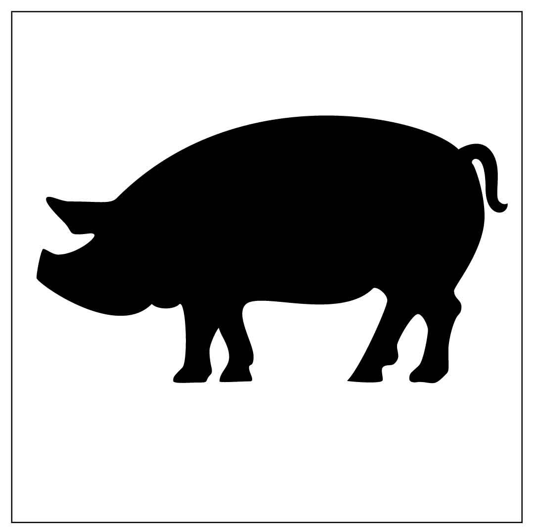 1080x1075 Farm03 Reusable Laser Cut Mylar Stencil Pig From Pearldesignstudio