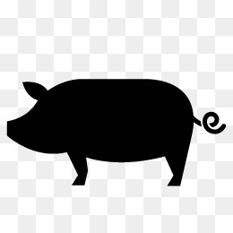 260x260 Pig Silhouette Png, Vectors, Psd, And Clipart For Free Download