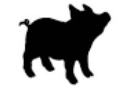 417x292 Pig Silhouette Vector File From Mardisplace On Etsy Studio