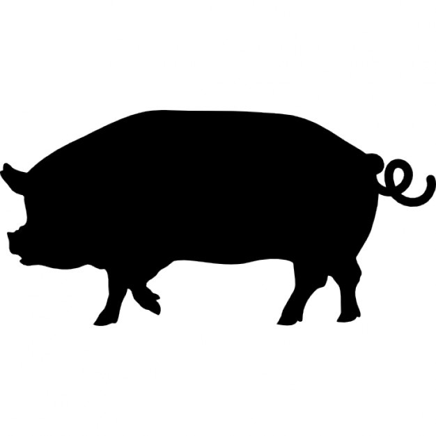 626x626 Pig Side View Silhouette Icons Free Download