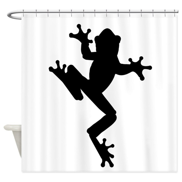 640x640 Warm Tour Frog Silhouette Shower Curtain Fabric Polyester