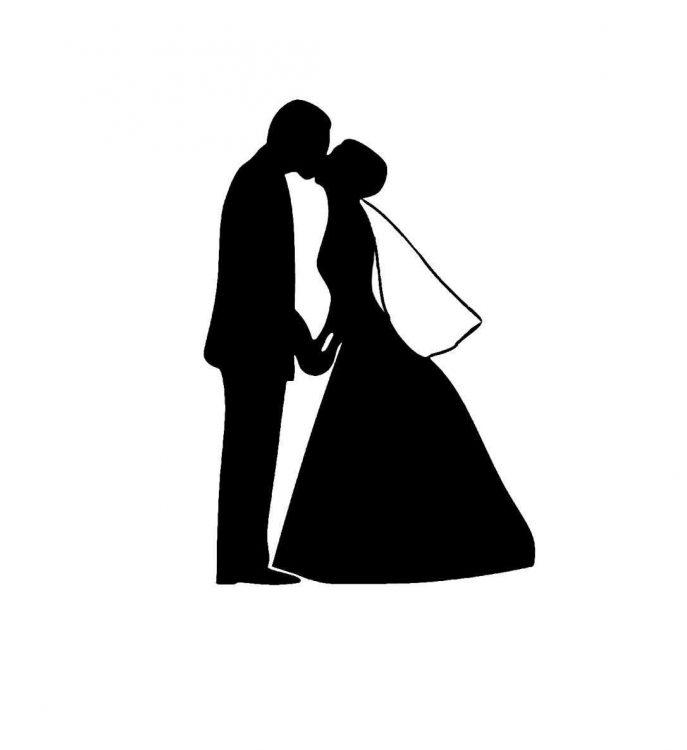 687x750 Bridal Gown Shower Silhouette Clip Art Purple Free Download