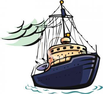 350x318 Lobster Boat Clipart