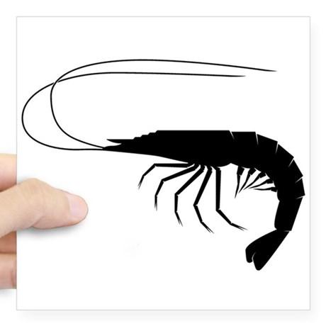 460x460 Shrimp Square Stickers