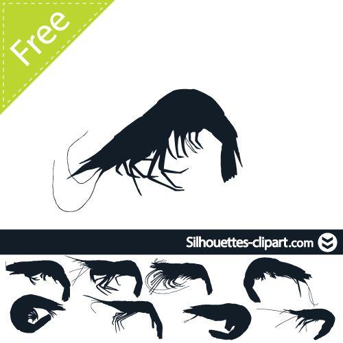 500x500 Shrimp Vector Silhouette Silhouettes Clipart Silhouettes