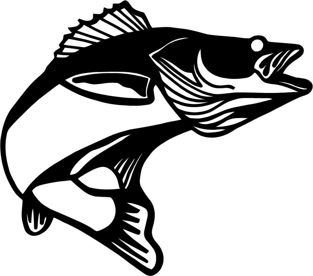 1000x881 Walleye Silhouette Freshwater Fish Walleye Angling Clip