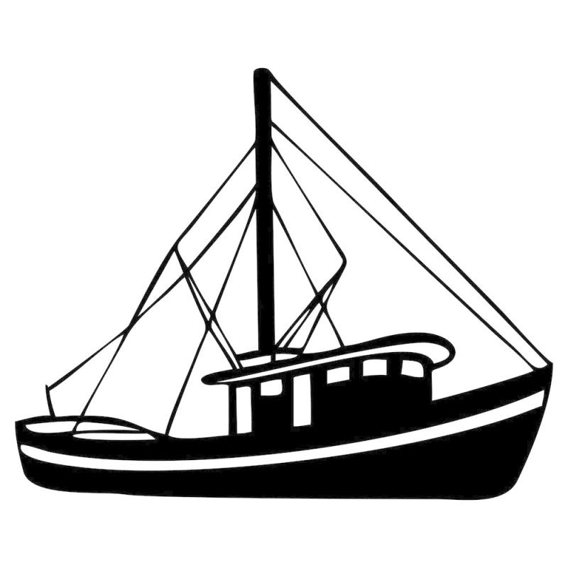 800x800 Fishing Boat Clipart Black White Related Images