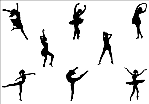 502x352 Gallery Dancer Silhouette Clip Art Free,