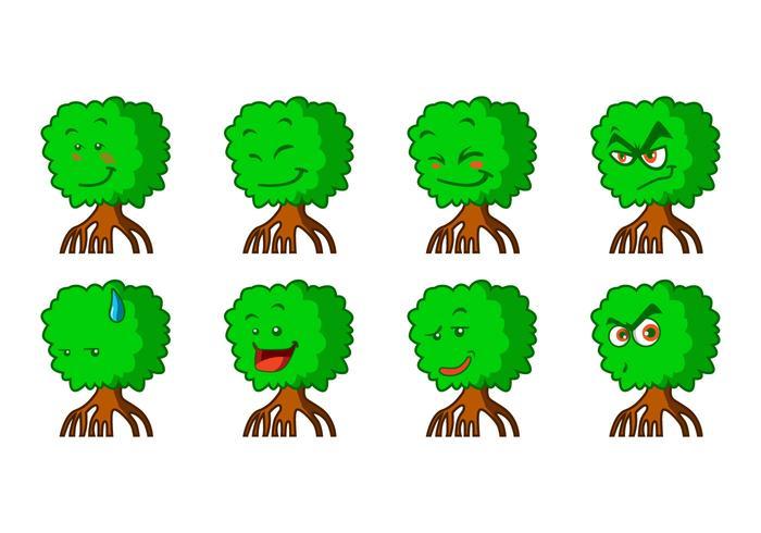 700x490 Free Cartoon Mangrove Emoticon Vector