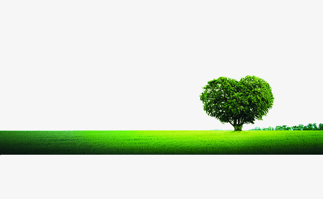 650x400 Heart Shaped Tree Ground Plane, Environmental Protection Industry