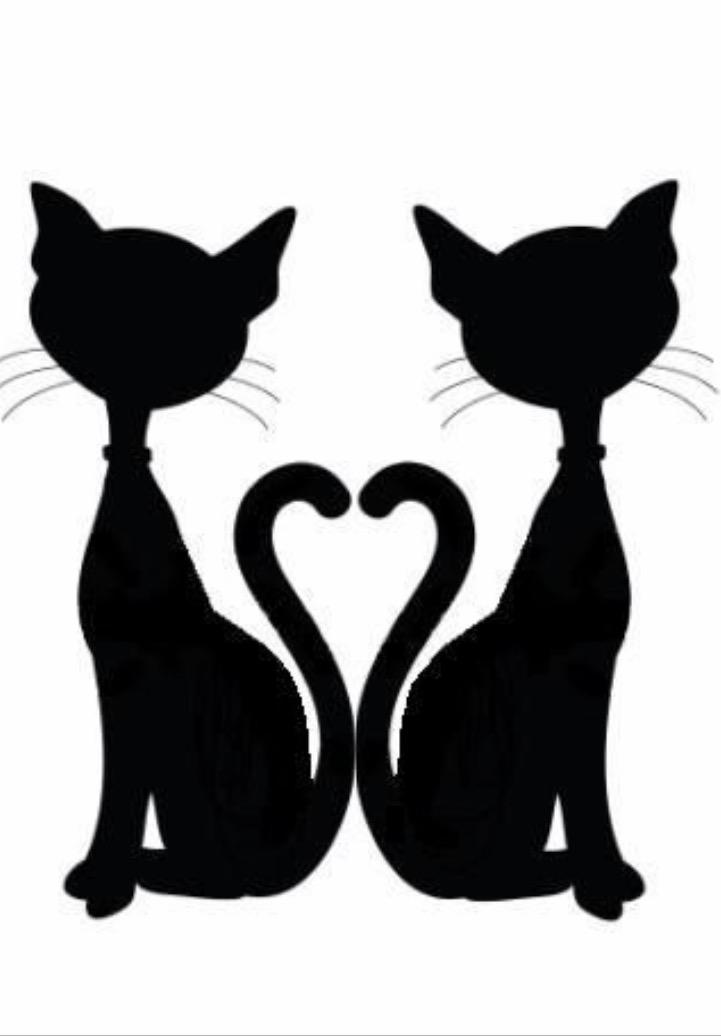 Siamese Cat Silhouette