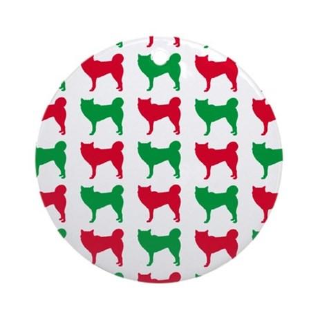 460x460 Siberian Husky Christmas Ornaments
