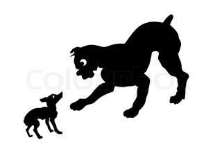 320x228 Vector Drawing Kushan Dog Breed Siberian Husky Stock Vector