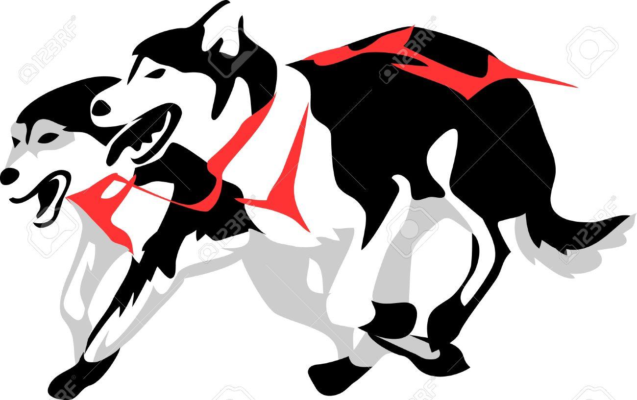 1300x817 Husky Clipart Sled Dog 3624275
