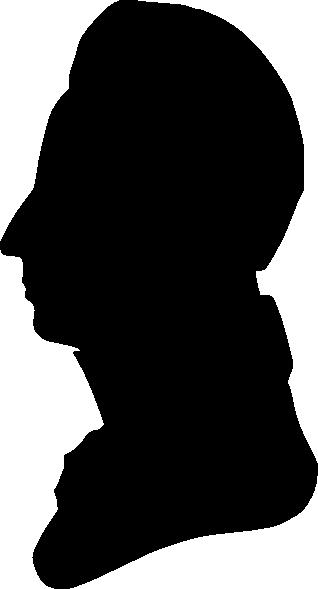 318x589 Silhouette Of Man Facing Left Clip Art