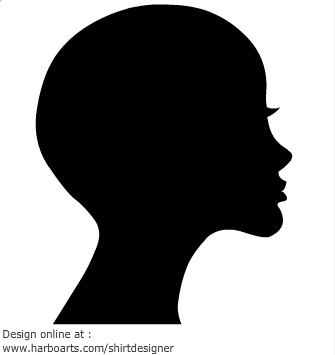 335x355 Woman Silhouette Face Bold No Hair Getting Lost In The Artistry