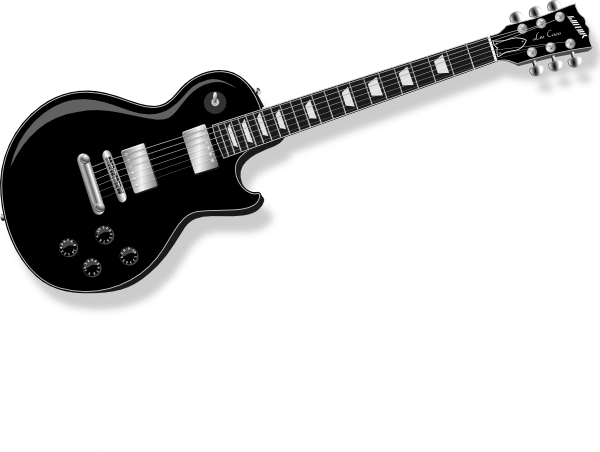 600x452 Free Guitar Silhouette Vector, Hanslodge Clip Art Collection
