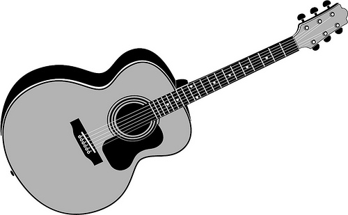 500x309 Rock Guitar Player Silhouette Vector Jpg Tattoo