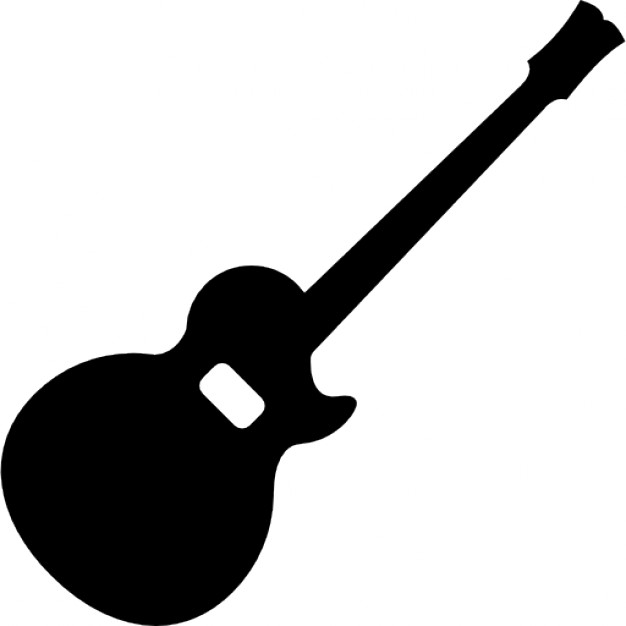 626x626 Acoustic Guitar Silhouette Icons Free Download