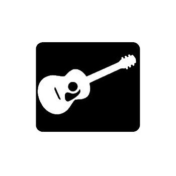 350x350 Les Paul Guiar Silhouette Vinyl Decal 5022 Personalize