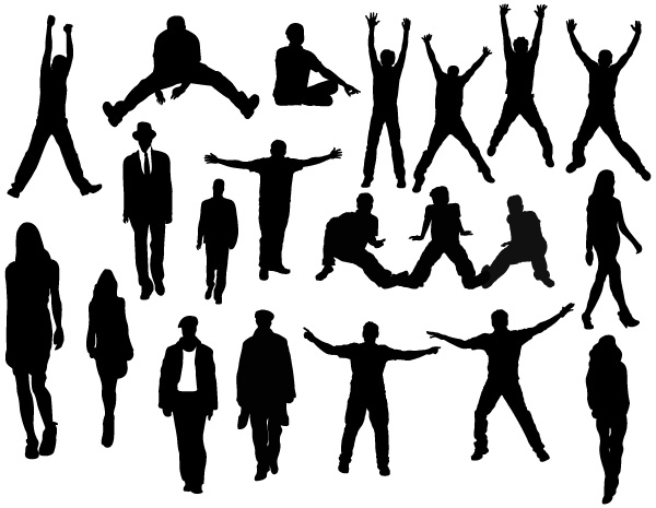 600x465 Silhouettes Brushes, Shapes, Vectors, Png, Picture Photoshop