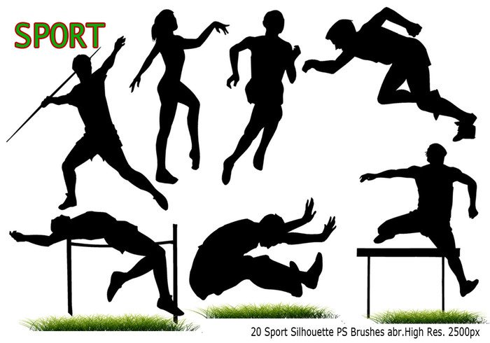 700x490 Sport Silhouette Ps Brushes Abr
