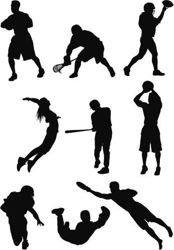346x496 Vectores Libres De Derechos Silhouette Of Sports People In Action