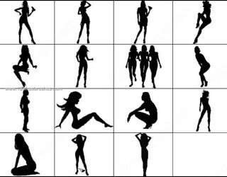 320x250 Dancing Silhouettes 815 Photoshop Free Brushes Download