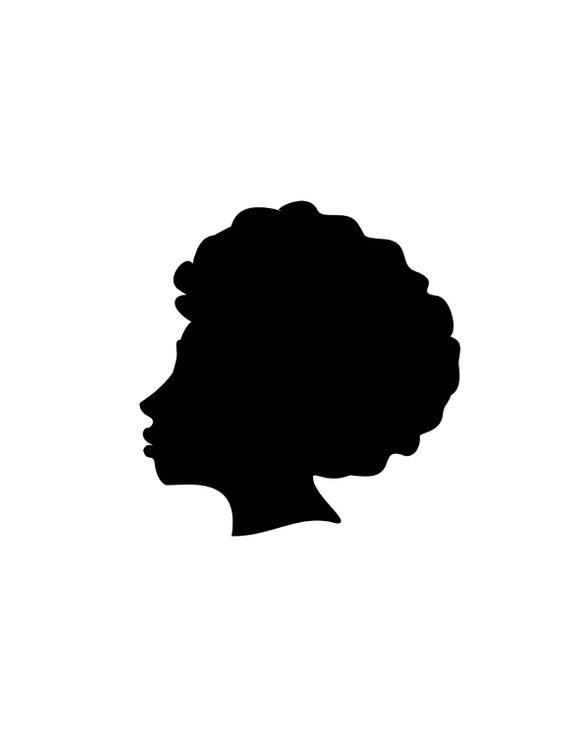 570x738 Afro Silhouette Svg Clip Art Afro Natural Hair Png Files