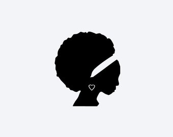 340x270 African Woman Decal Etsy