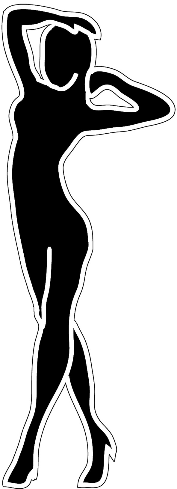 591x1632 Free Silhouettes Of Women, Hanslodge Clip Art Collection