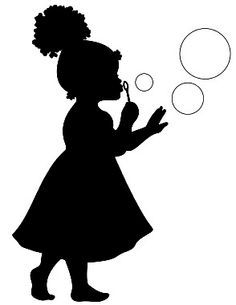 236x305 Little Girl Silhouette Group
