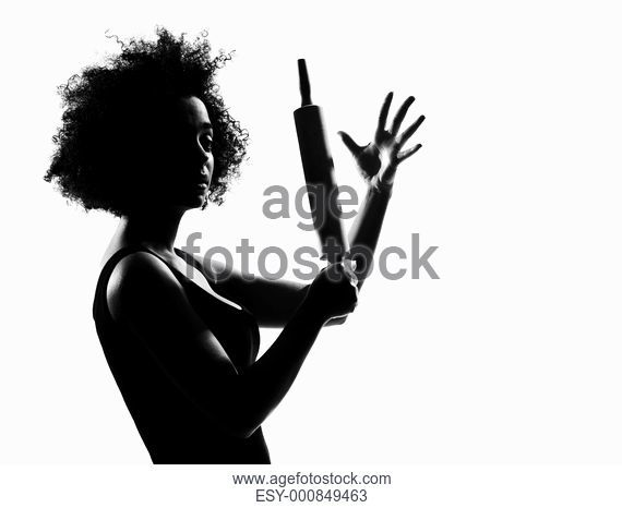 570x466 Beautiful Funny Young Afro American Woman Thumb Up In Silhouette